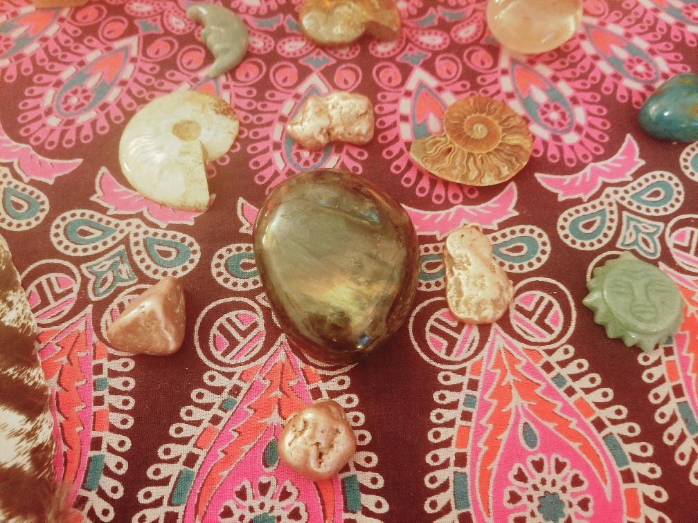 Close up of gems